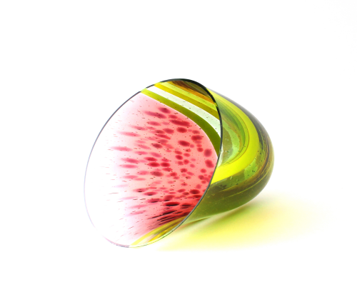 Watermelon - 2020 - Catherine Mahe - kilnformed drop out vessel
